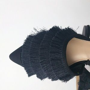 Who What Wear Shoes - Who What Wear Satin Tassel Pointed Toe Mules